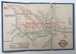 Vtg 1936 No 2 London Underground Transport Pocket Tri Fold