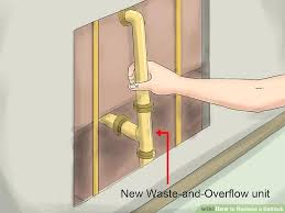 bathtub parts overflow image titled replace a bathtub step 4 bathtub overflow tub repair replace bathtub