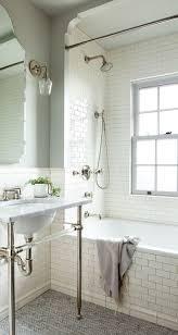 ... Bathtubs Idea, Deep Tub Shower Combo Bathtub Shower Combo Design Ideas  White Subway Tile Bathtub ...