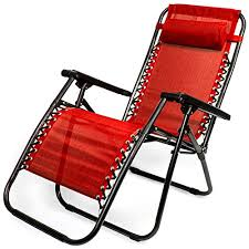 Picture 10 of 18 Zero Gravity Outdoor Folding Lounge Chair With Pillow Red | eBay
