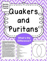 Puritans And Quakers Venn Diagram Quakers And Puritans Whats The Difference