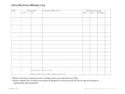 Free Excel Mileage Log Gas Mileage Sheet Expenditure Record Template Daily Takings