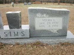 Velma Lee McNeece Sims (1937-1992) - Find A Grave Memorial
