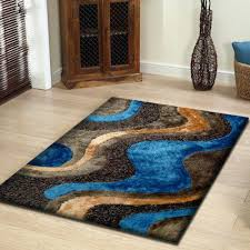 blue and brown rugs rug living room for