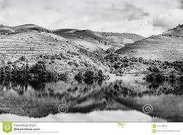 travel in river douro region in portugal among vineyards and olive groves viticulture in the portuguese villages black and white photo
