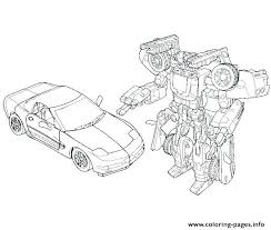 Transformers Coloring Pages Bumblebee Car Cheerful Transformer Color