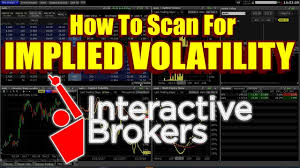 Interactive Brokers Implied Volatility Chart Trader Workstation Tutorial How To Use Implied Volatility Scanners
