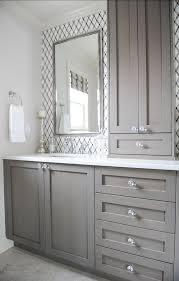 bathroom counter with cabinet