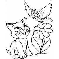 Disegno Di Cane Gatto E Coniglio A Colori Per Bambini