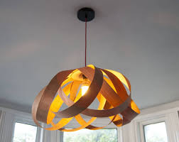 wood veneer ceiling lamp shade downmodernhome