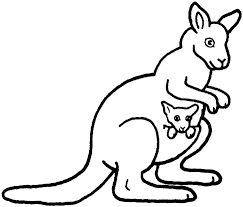 Small Picture Kangaroo coloring pages with joey ColoringStar
