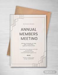 Annual Meeting Invitation Business Invitation Event