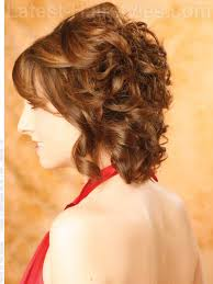 wavy brunette layered chin length bob side