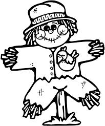 scarecrow coloring page scarecrow coloring pages free printable