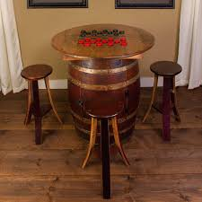 east collection whiskey barrel 5 piece pub table set reviews whiskey barrel chairs whiskey barrel 5