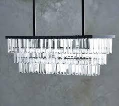 rectangle chandelier lighting crystal home ideas circulation black rectangular iron