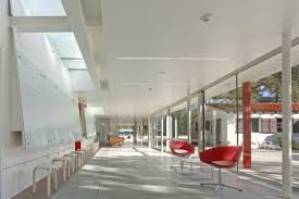 Lehrer architects office design Interior The Design Of The Keck Institute For Space Studies Called For Not Only The Construction Of New Modernist Building But Also The Historic Renovation Of The Matiz Architecture And Design Inhabitat Sustainable Design Innovation Eco Architecture Green