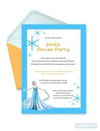 Party Invitation Template Word Free Frozen Party Invitation Template Cordially Invited Sample