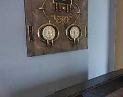 Steampunk Wall Art Decor .Brass and wood.
