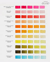 Blue Color Swatch Chart Color Swatch Chart Page 1 Watercolor Misfit