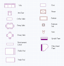 Standard Furniture Symbols 00  Icons  Creative MarketFurniture Icons For Floor Plans