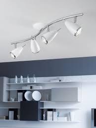 modern spot lighting. Riccio Gloss White And Chrome Spotlight Bar, Sleek Stylish. Contemporary Home OfficesModern LightingCeiling Modern Spot Lighting N