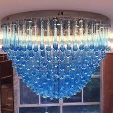 blue glass chandelier packaging blue murano glass chandelier