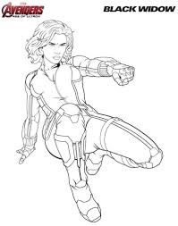 Small Picture Kids n funcouk Coloring page Avengers Black widow