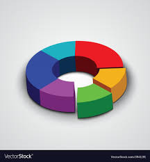 Abstract Round 3d Business Pie Chart