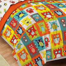 monster alien bugs little boys bedding twin or full comforter set bed in a bag orange blue