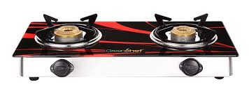Gas Cooktop Glass Buy Greenchef Crystal 2 Burner Glass Top Gas Stove Online At Low