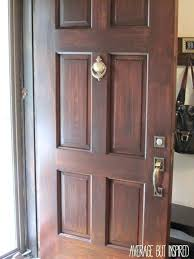 How To how to refinish front door images : Front Doors: Chic Refinishing A Front Door For Modern Home. How To ...