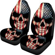 universal car seat covers funky flag