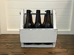 vintage diy wooden beer caddy plans