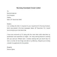 Cna Cover Letter Samples Cover Letter Sample For Cna With No Experience