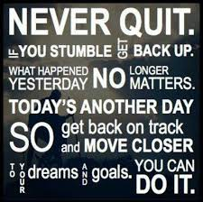 Daily motivational quotes NEVER QUIT daily motivational quote 42