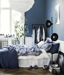 Kopfkissenbezug Dunkelblau Home Hm De Blue And White
