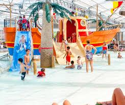 kids playing on ship slide schlitterbahn galveston waterpark