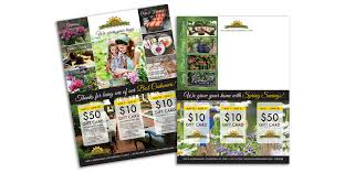 bucks country gardens 8 5 x 11 triple card mailer 3 pop out cards folds to 8 5 x 5 5