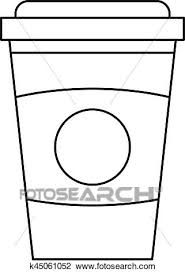 Free coffee cup outline icons in various ui design styles for web and mobile. Take Out Coffee Cup Icon Outline Style Clipart K45061052 Fotosearch