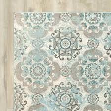 teal gray and brown area rug blue grey aqua haze