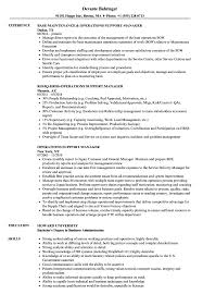 Operations Support Manager Resume Samples Velvet Jobs