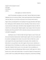 essay textual analysis everything i never told you spence  3 pages essay 2 conversing the critics under the udala trees