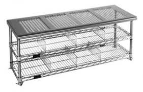 Metro Shelves USA  Metrou0026174 Clean Room Gowning Bench 16x36x18 Cleanroom Bench