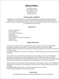 Sample Civil Engineering Resume Entry Level
