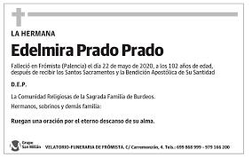 Esquela de Edelmira Prado Prado : Esquela | Esquela en El Norte de ...