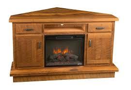 reclaimed barnwood corner entertainment center with optional fireplace