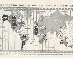 Time Zone Chart Map Australian Central America