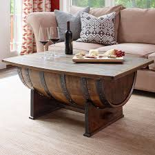 ... Enchanting Brown Rectangle Traditional Wood Wine Barrel Coffee Table  Designs To Decorating Living ...