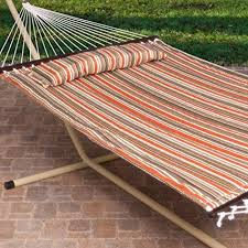 free standing hammock. Unique Free 2 Person Free Standing Hammock 13 Ft Sienna Stripe Quilted Hammock With  Steel Stand On A